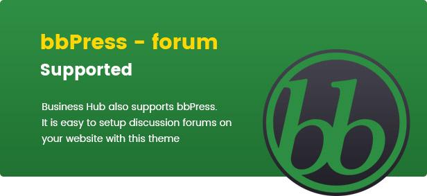 business hub supports bbpress